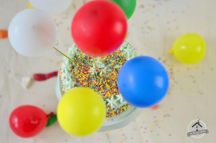 Marzipan Geburtstagstorte Luftballons  14