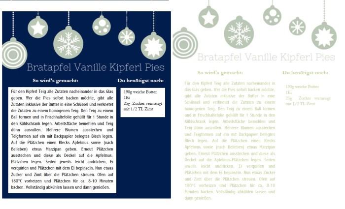 Bratapfel Vanille Kipferl Pies Etikett