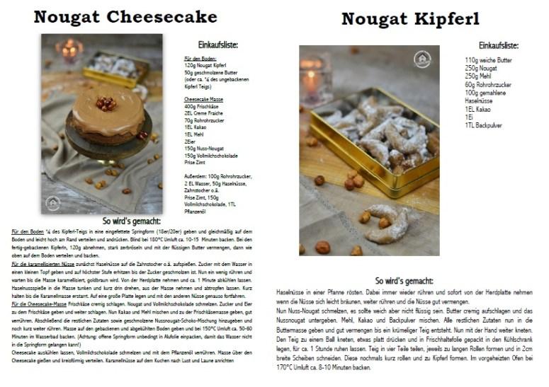 Nougat Cheesecake und Nougat Kipferl