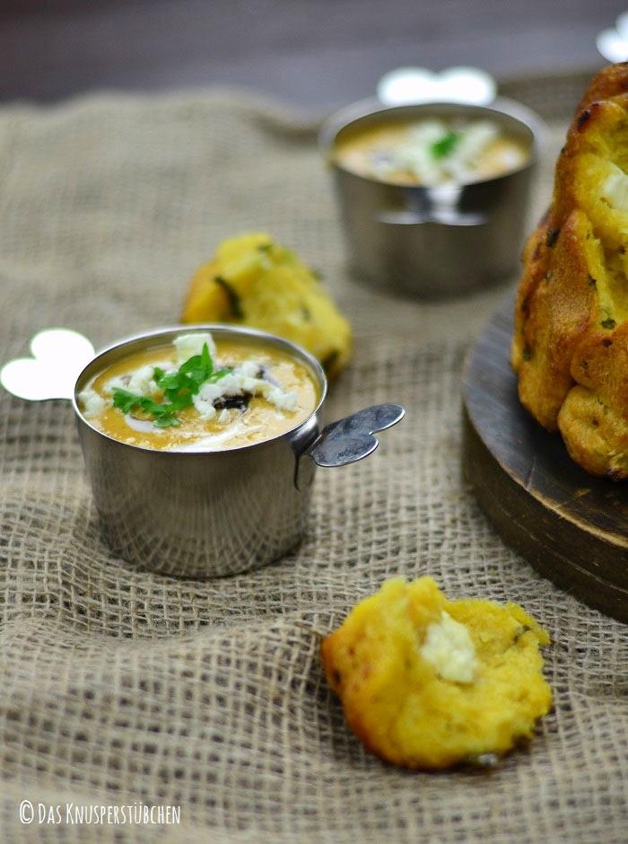 Suesskartoffel Linsensuppe mit Monkeybread 6-1