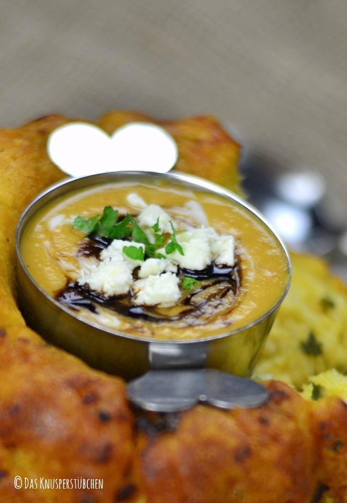 Suesskartoffel Linsensuppe mit Monkeybread 7-1