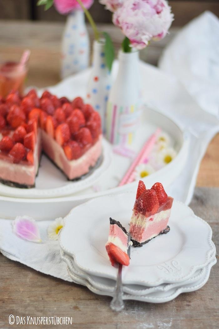 Erdbeer Katamell Cheesecake 16