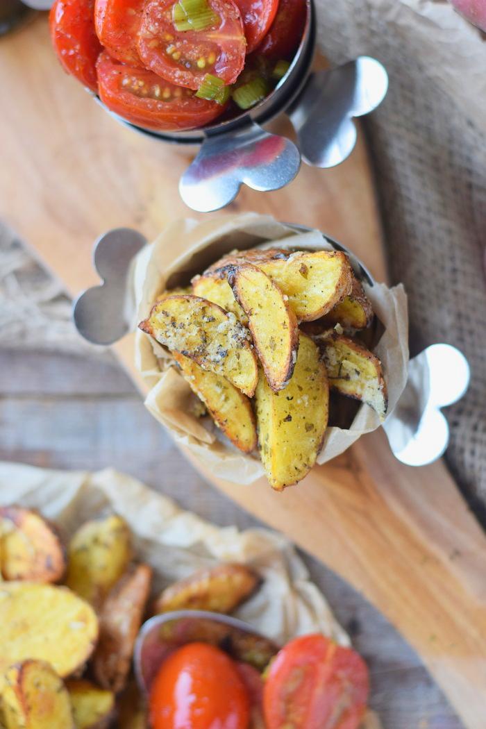Ofenkartoffeln mit karamellisierten Tomaten 11