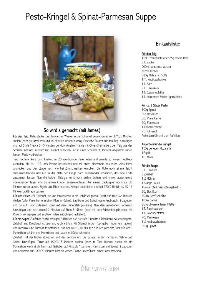 Pestokringel Herstellung Pesto Brötchen Rezept-001
