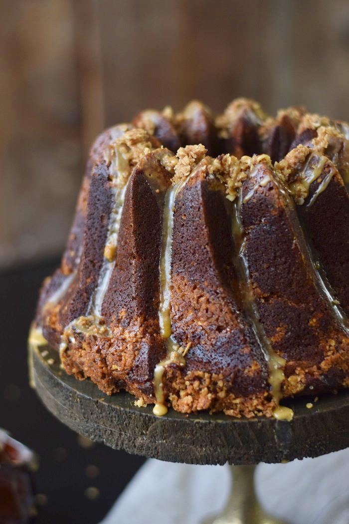 Wuerziger Kürbis Kuchen mit STreuseln - Pumpkin Spice Crumble Cake (8)