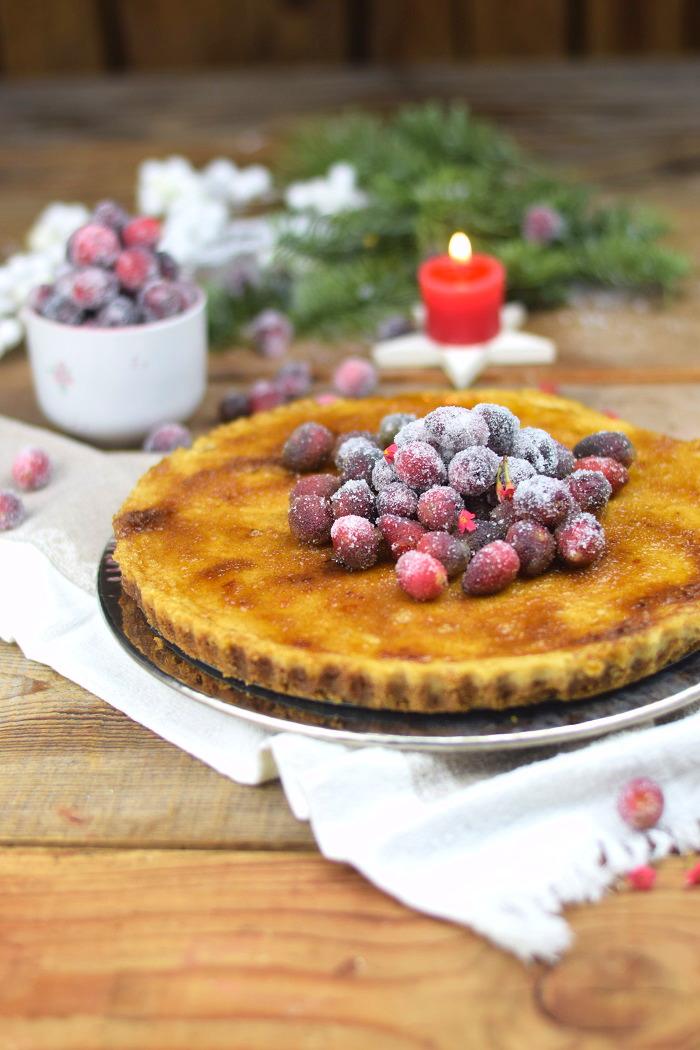 Zimt Brulee Tarte mit Honig und gezuckerten Cranberries (2)