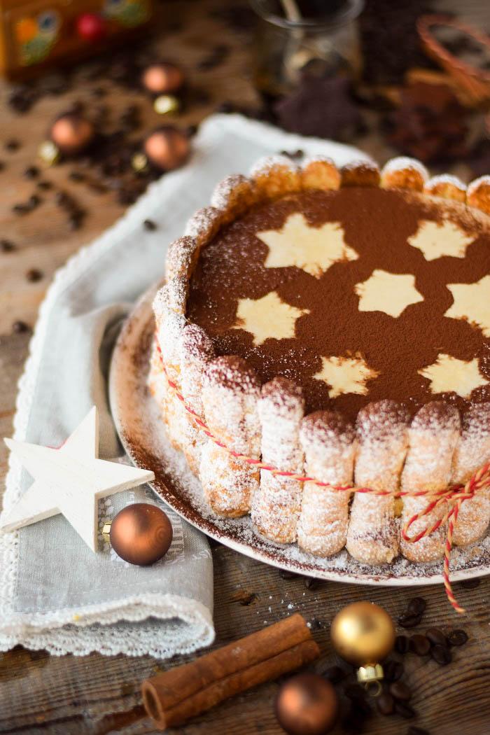 Tirmaisu Cheesecake Charlotte - Kaffee Kuchen mit Löffelbiskuit und Kaffeelikör (9)