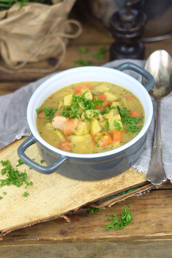 Grundrezept Gemuesebruehe & Kartoffelsuppe - Vegetable stock and Potato Soup (4)