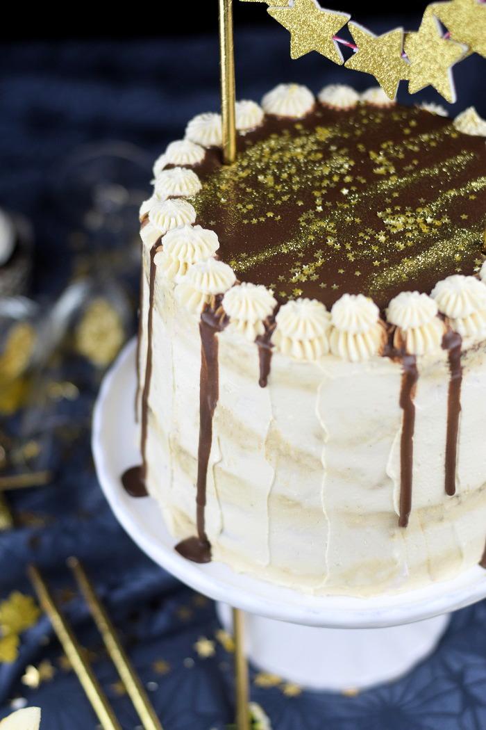 Neujahrstorte - Schoko Kaffee Mokka Torte - Guinnes Cupcakes und Glückskekse mit weisser Schokolade (5)