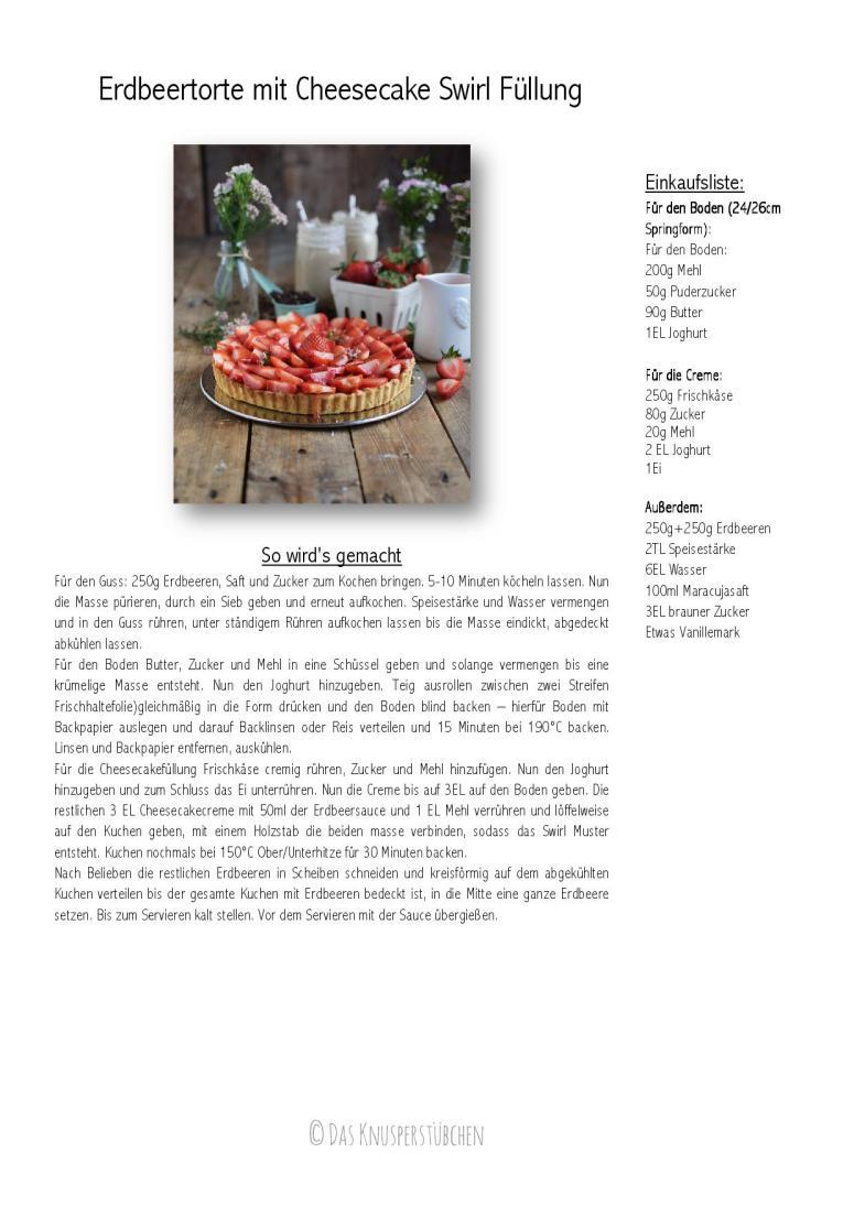 Erdbeertorte mit Cheesecake Swirl Rezept-001