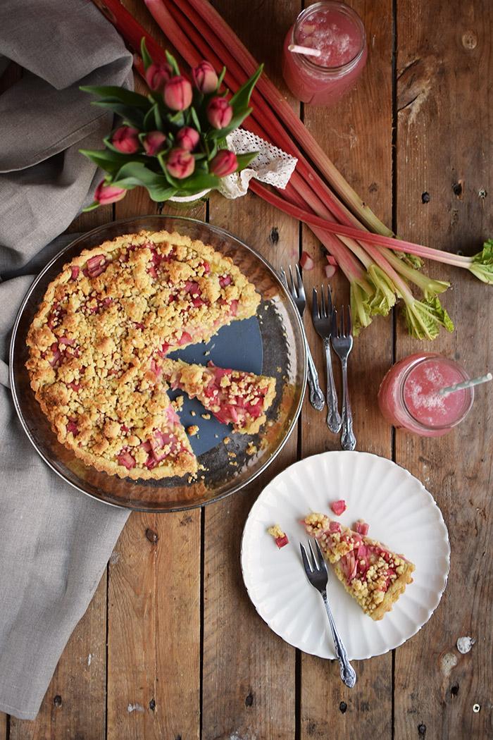 Rhabarber Streusel Tarte - Rhubarb Crumble Tart (11)