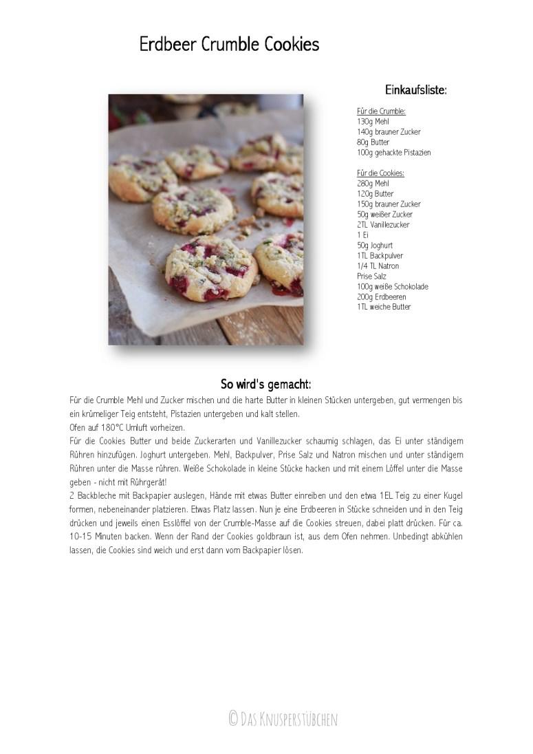 Erdbeer Crumble Cookies Rezept