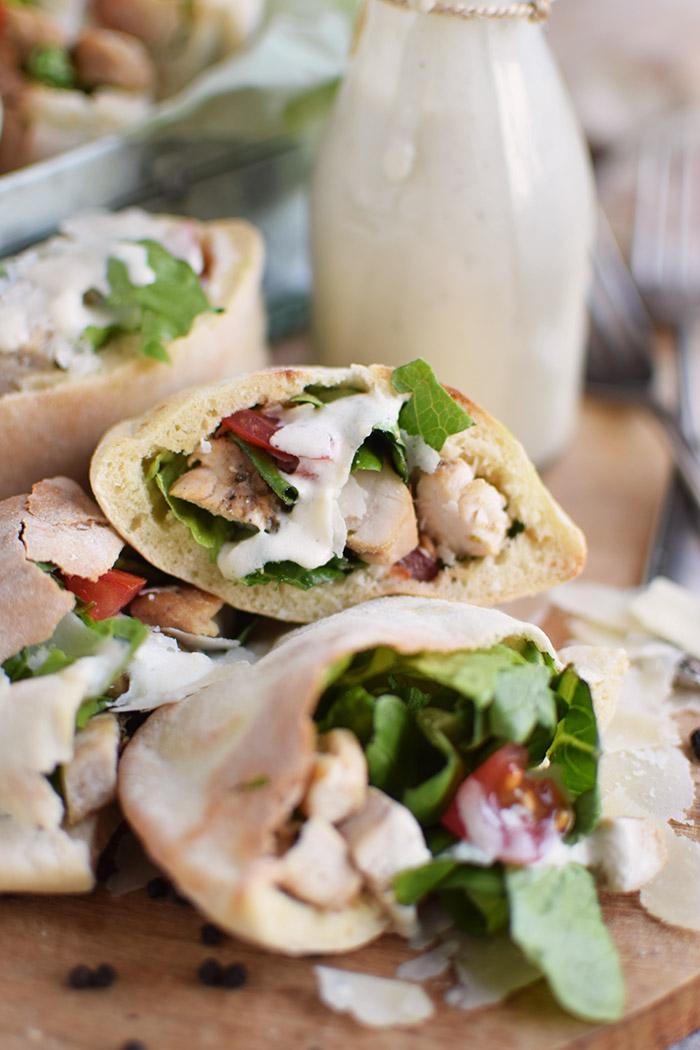Caesar Salat Pitas - Caesar Salad Pita Bread (8)
