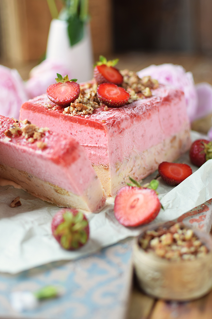 Erdbeer Pfirsich Parfait -Strawberry Peach Parfait (13)