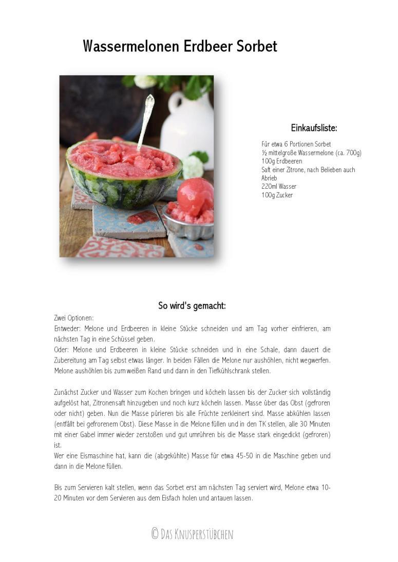 Wassermelonen Erdbeer Sorbet-001