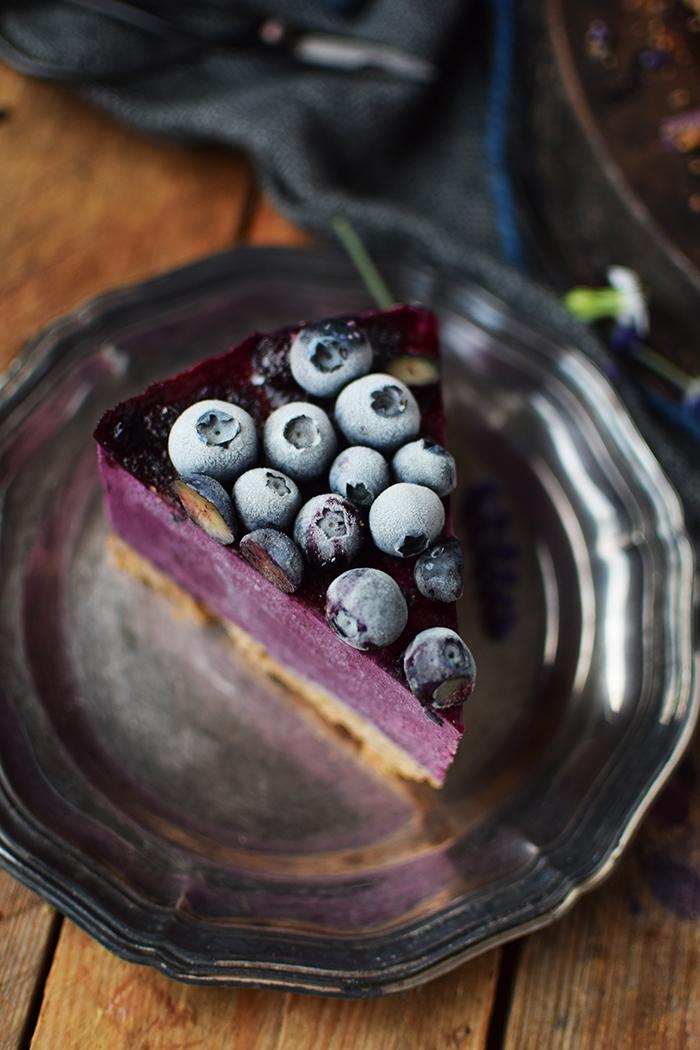 No Bake Blaubeer Cheesecake - No Bake Blueberry Cheesecake (19)