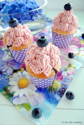 Blaubeer Cupcakes von Aus der Lameng