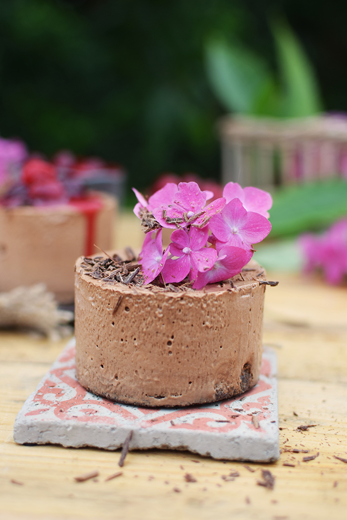 Geeiste Schoko Mousse mit Kirschen - Iced Chocolate Mousse with cherries (21)