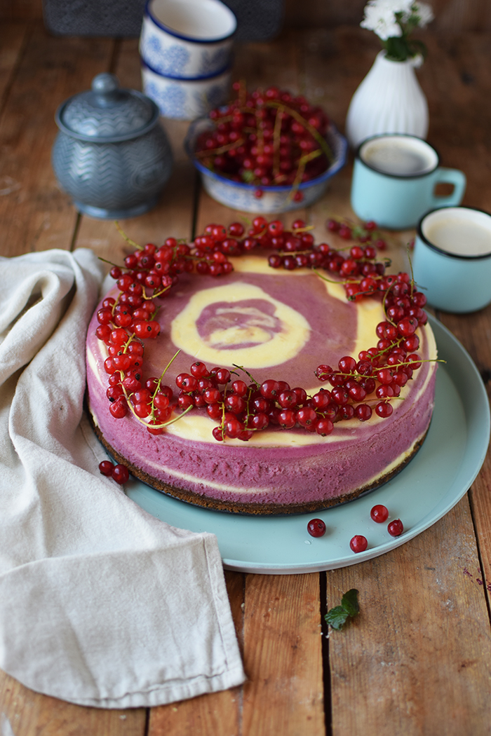 Johannisbeer Zebra Cheesecake - Red Currant Zebra Cheesecake (6)