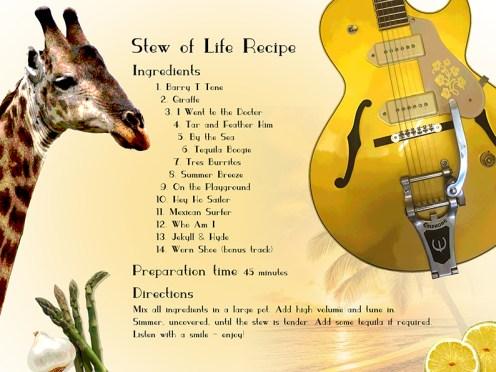 "Digital Booklet KaiRo ""Stew of Life"" Album Back"