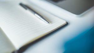Notebook, Stift, Notizbuch - PR-Beratung