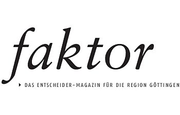 Logo faktor - Das Entscheider-Magazin für die Region Göttingen