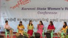 Panel discussion on topics involving women's peace and security, at the 2016 Karenni State Women's Voice Conference.
