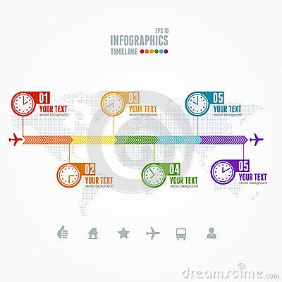 wektorowa-linia-czasu-infographic-mapa-i-zegar-48591010
