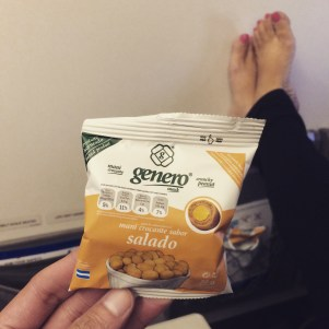 Nuts as snack on the flight