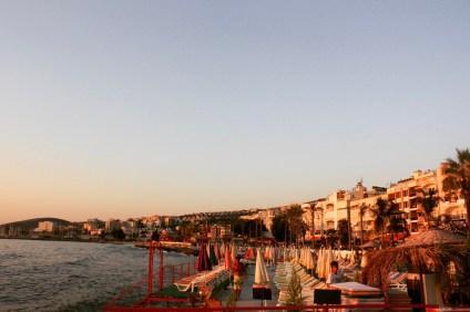 The beautiful sunset in Kuşadası