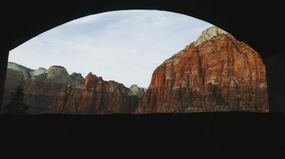 Tunnel's Window that framed the view
