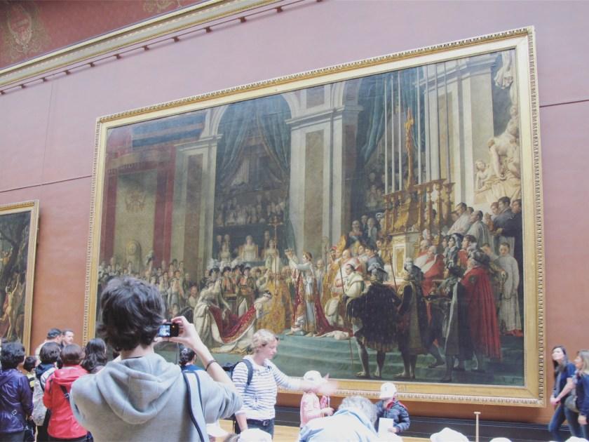 Le Louvre 6 The Coronation of Napoleon by Jacques-Louis David
