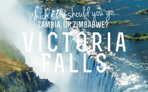 Walking through Thunder. Victoria Falls: Which Side is Better?