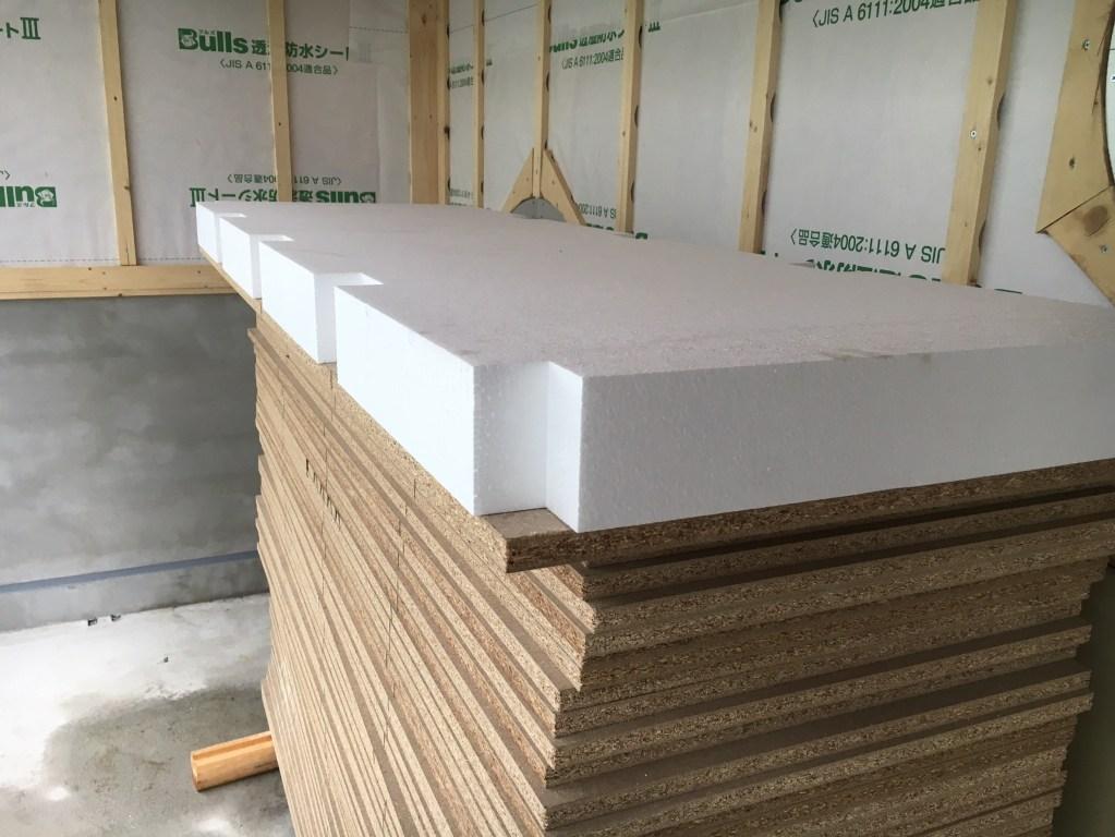 保育園新築工事床