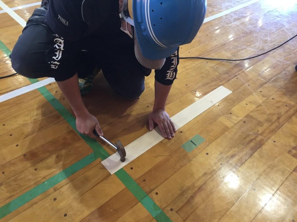 長野県内大アリーナ床修繕