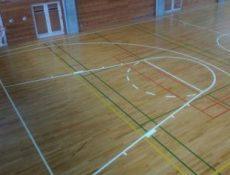 バスケットボール改線施工前