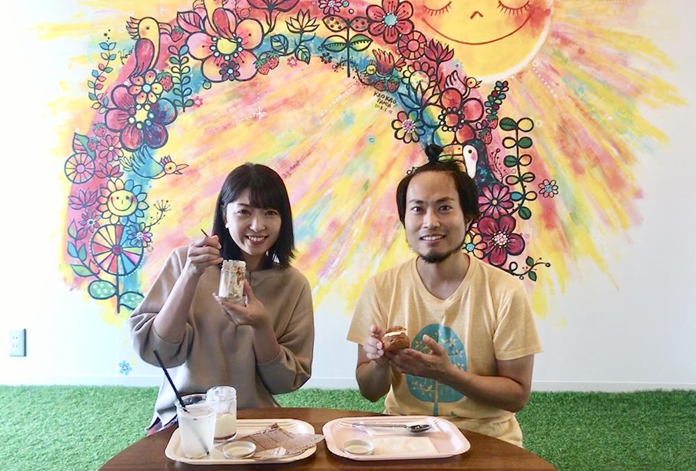 アナウンサー奥田麻衣さんと弊社代表の犬養