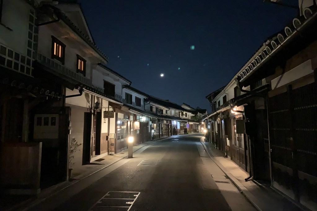 倉敷美観地区夜の風景