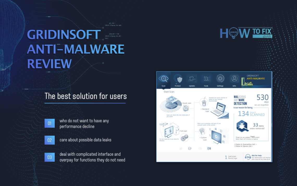 🏆 GridinSoft Anti-Malware — A fast, efficient antivirus tool with a beautiful interface   Review 2020  Source: https://howtofix.guide/gridinsoft-anti-malware/