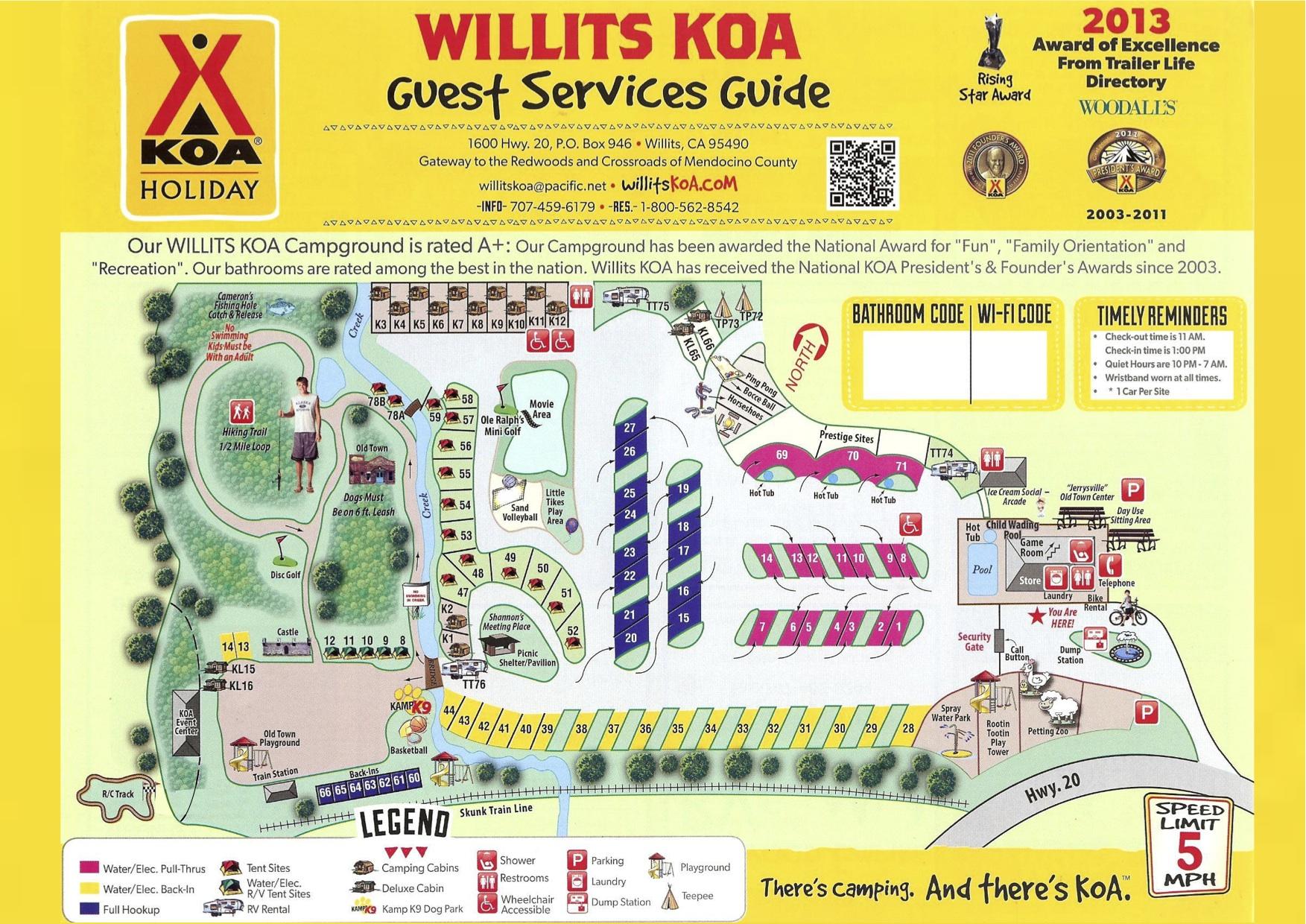 Willits California Camping Events Willits Koa