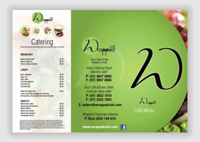 Wrapped Cafe Menu