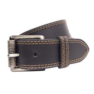 Black Leather BeltsMLB402-BLK