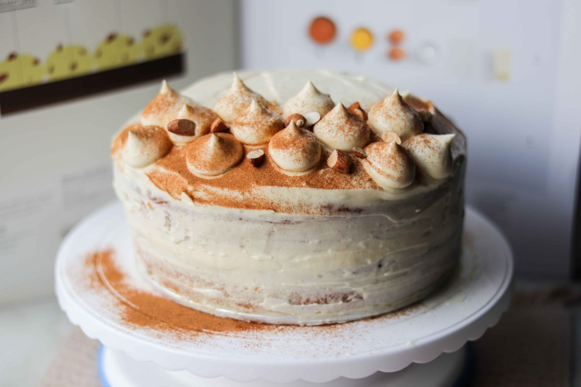 Almond Butter Carrot Cake with Cream Cheese Frosting