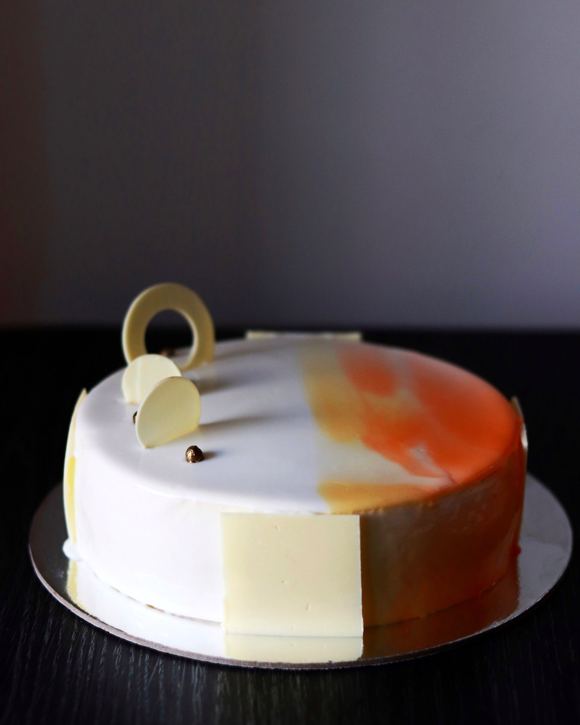 passonfruit and white chocolate entremet