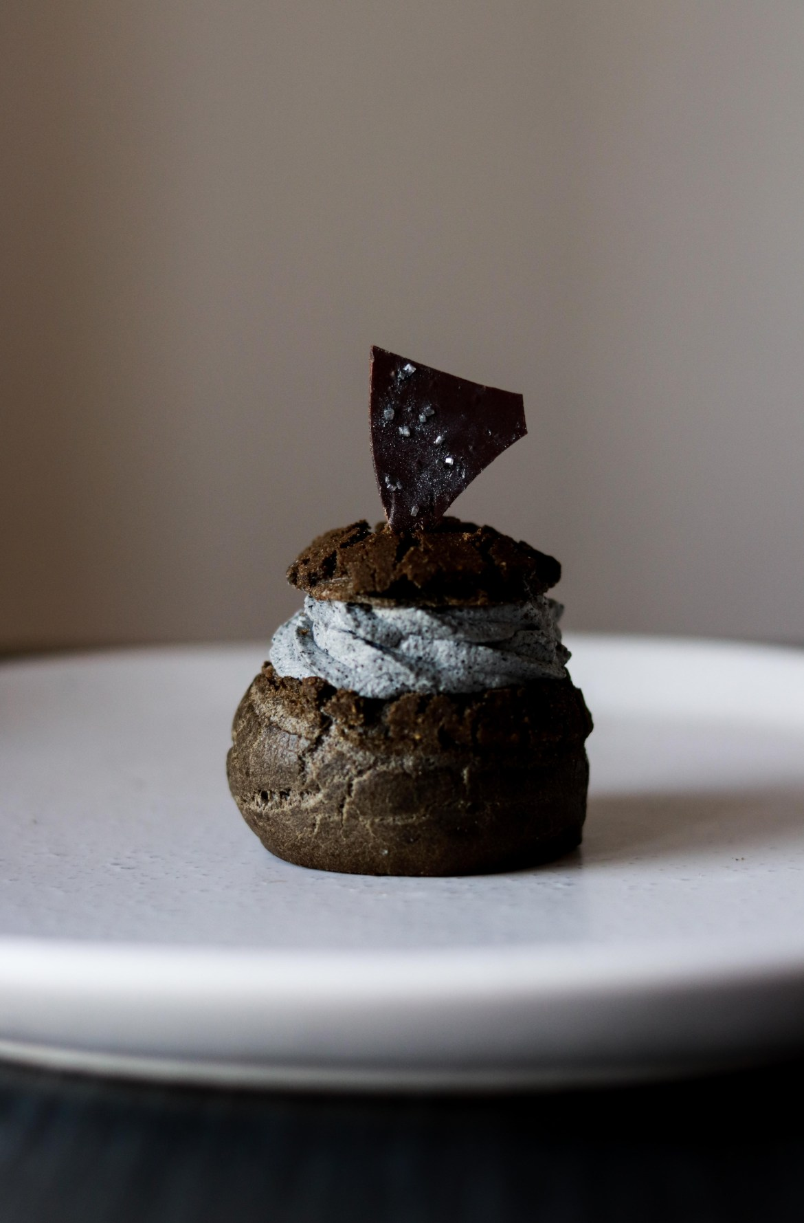 Charcoal Dark Chocolate Cream Puff with Black Sesame Chantilly Cream and Tofu Creme Patisserie4