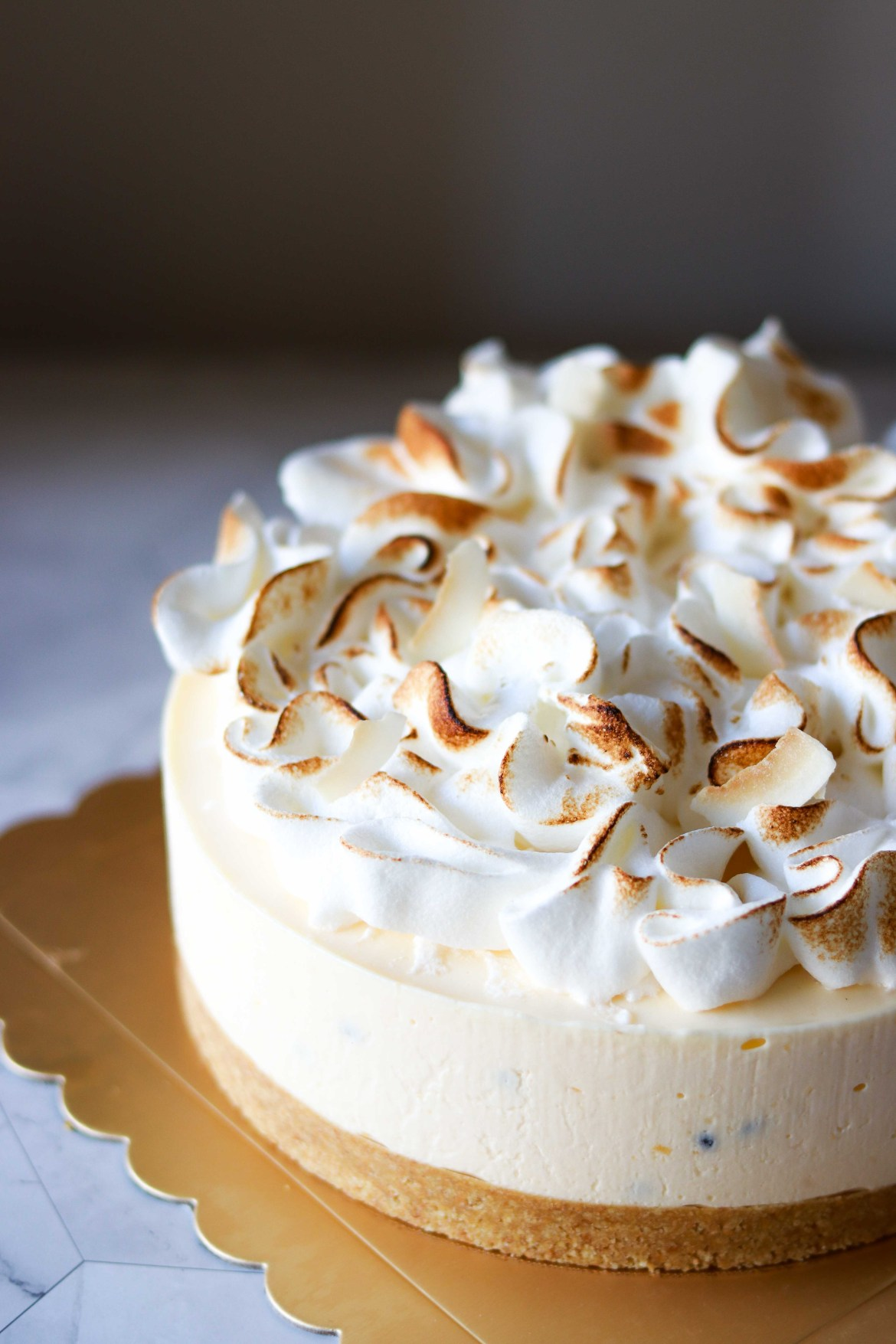 Ginger Passionfruit Yogurt Cheesecake with Italian Meringue4