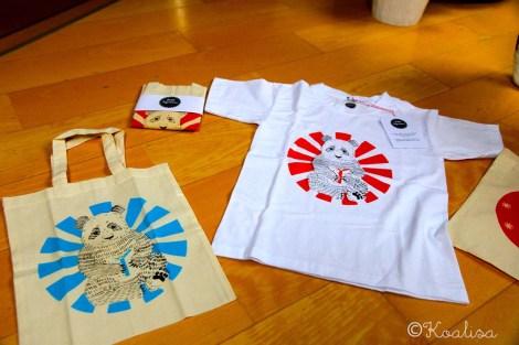 t-shirt et tote bag panda petit bigorneau