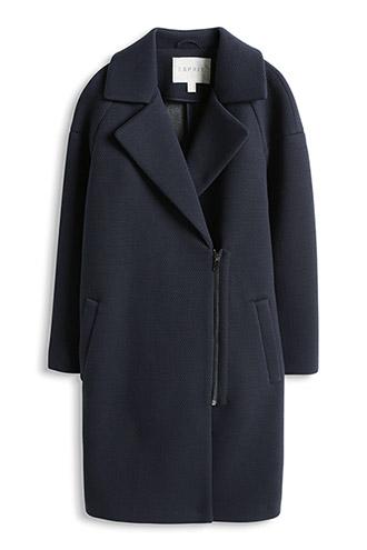 manteau doux tissu mélangé