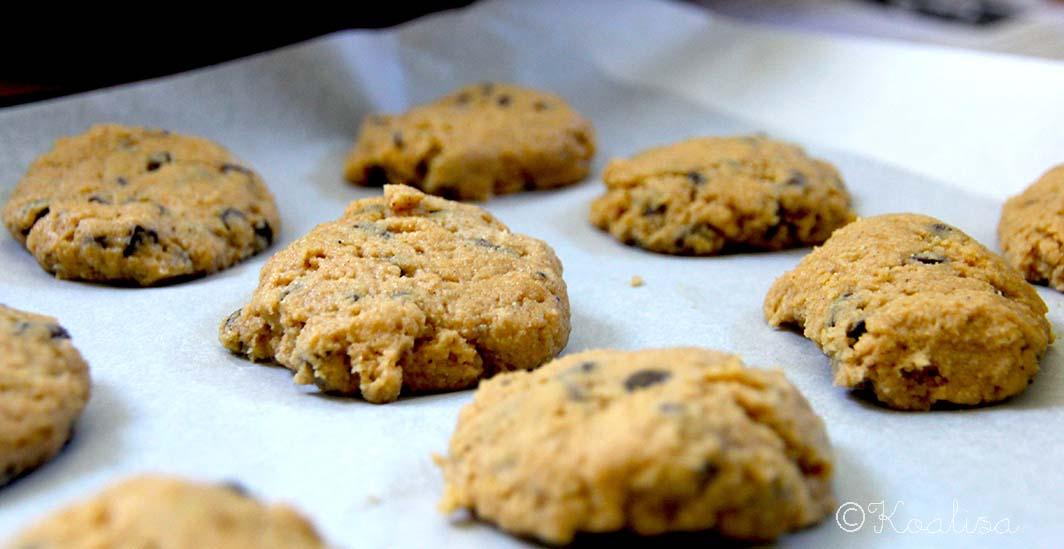 Cookies vegan sans gluten au chocolat noir