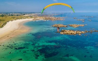 Vol au-dessus du littoral de Bretagne – Finistère